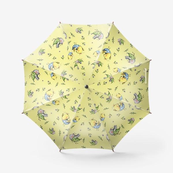 Зонт «Птички-невелички на желтом»