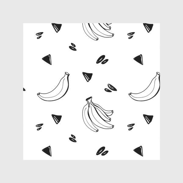 Скатерть «Милый черный контур банан и треугольник паттерн »