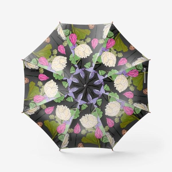 Зонт «нежные лотосы»