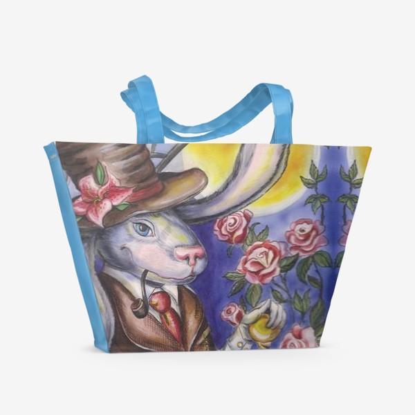 Пляжная сумка «Кролик страны Чудес »