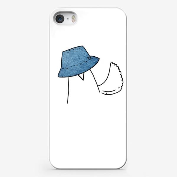 Чехол iPhone «Птиц в джинсовой панаме»