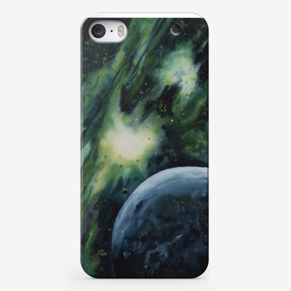 Чехол iPhone «Зеленый космос»