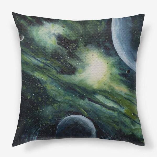 Подушка «Зеленый космос»