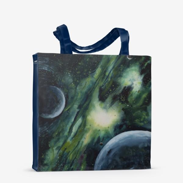 Сумка-шоппер «Зеленый космос»