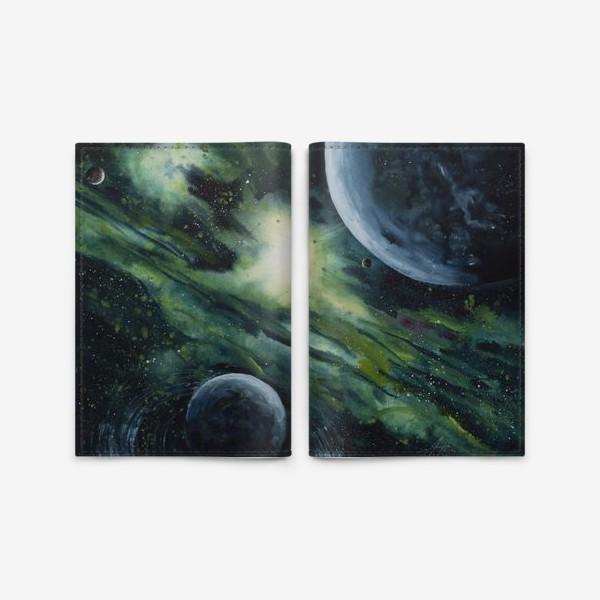 Обложка для паспорта «Зеленый космос»