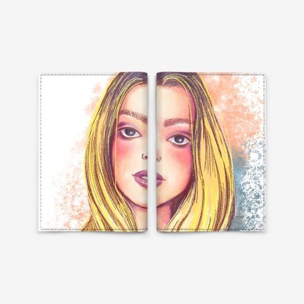 Обложка для паспорта «Girl»