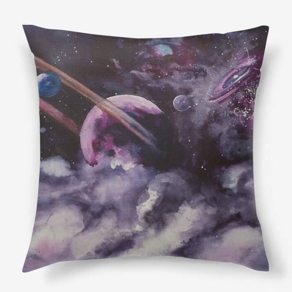Подушка «Сиреневый космос»