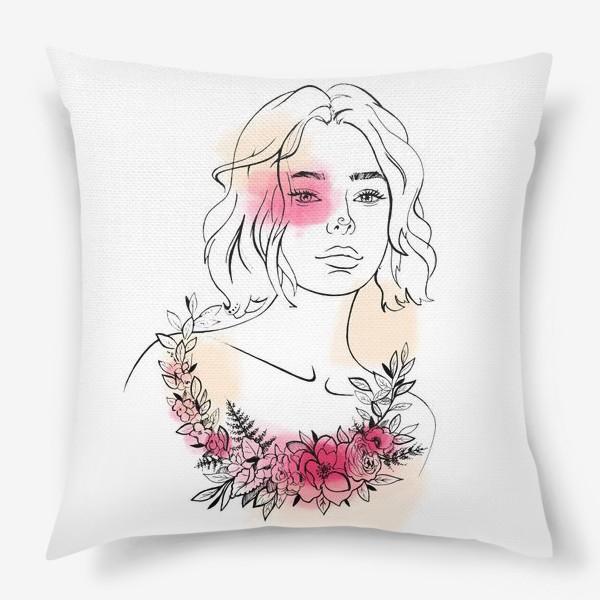 Подушка «В лучах розового заката»