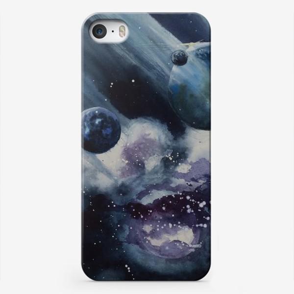 Чехол iPhone «Синий космос»