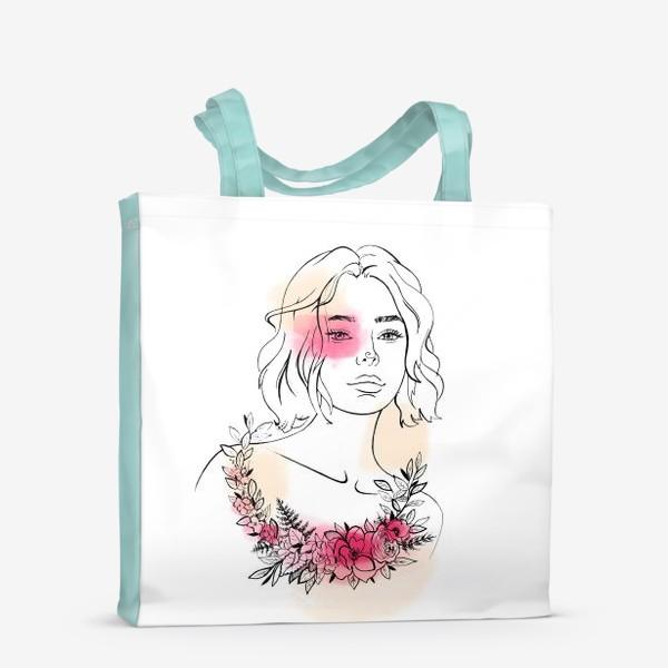 Сумка-шоппер «В лучах розового заката»