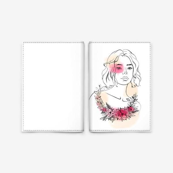 Обложка для паспорта «В лучах розового заката»