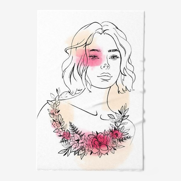 Полотенце «В лучах розового заката»