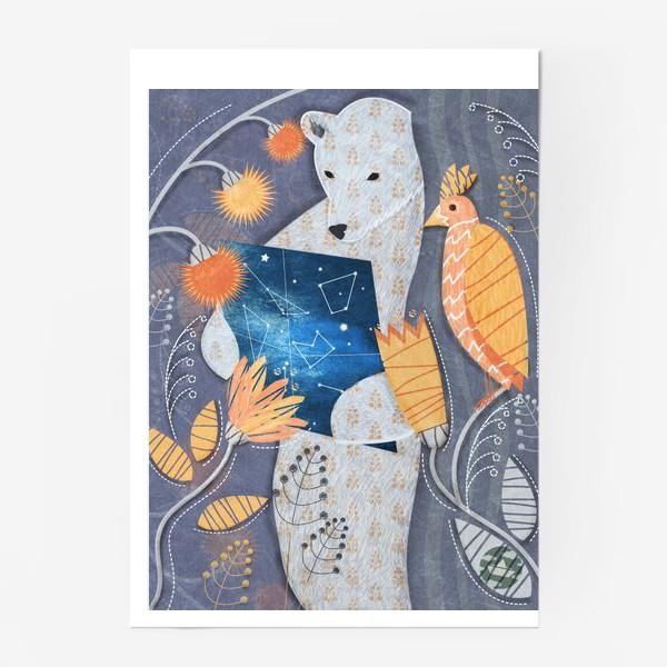Постер «мишка ищет выxод»