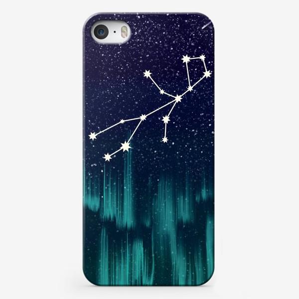 Чехол iPhone «Зодиак Дева. Северное сияние»
