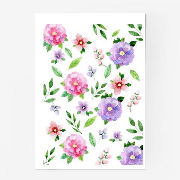 Постер «Цветочный узор»