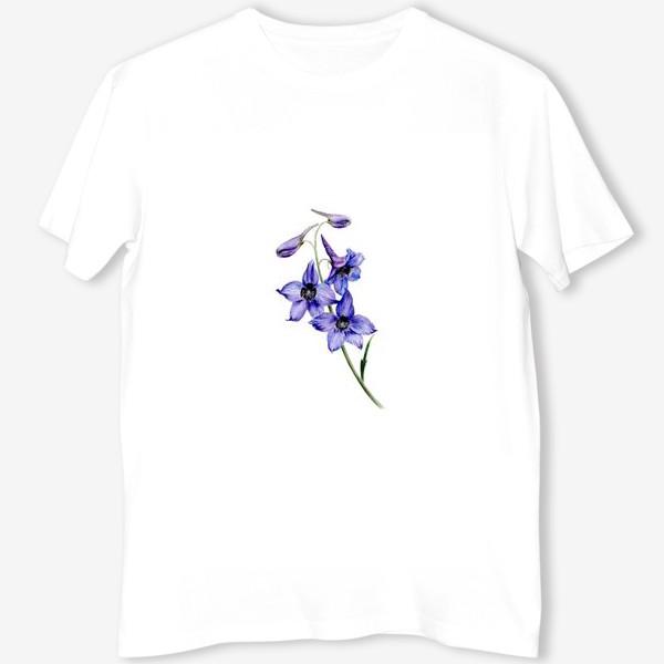 Футболка «Фиолетовые цветы ботаническая иллюстрация»
