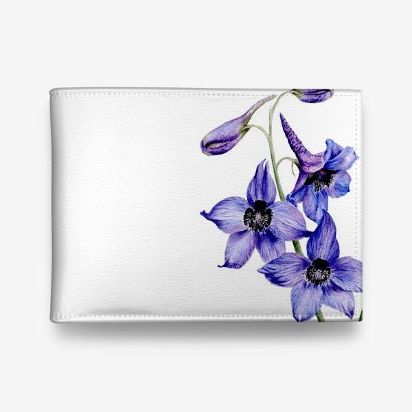 Кошелек «Фиолетовые цветы ботаническая иллюстрация»