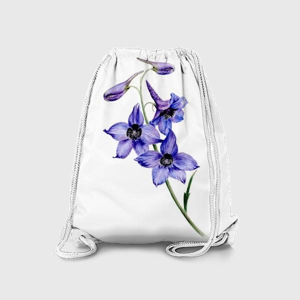 Рюкзак «Фиолетовые цветы ботаническая иллюстрация»
