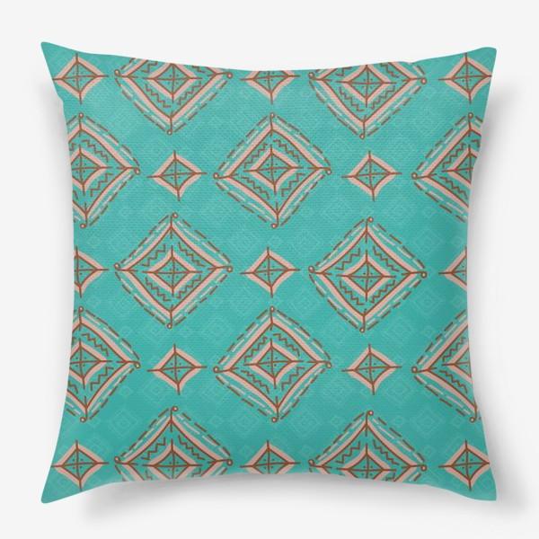 Подушка «Плитка из ромбов»