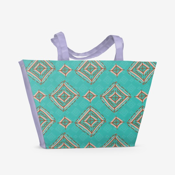 Пляжная сумка «Плитка из ромбов»