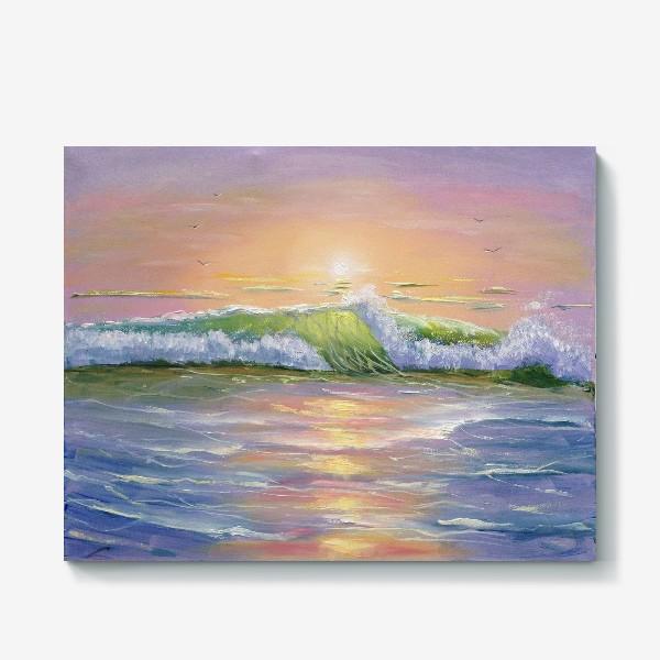 Холст «Восход над морем»
