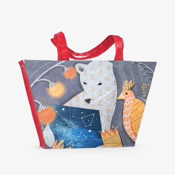 Пляжная сумка «мишка ищет выxод»
