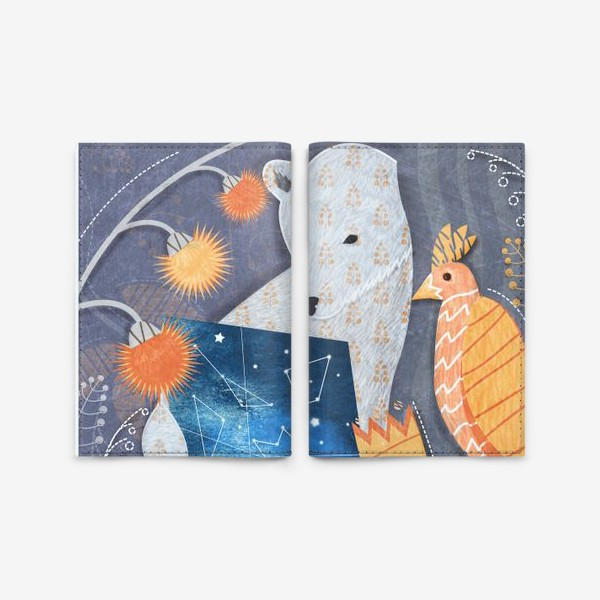 Обложка для паспорта «мишка ищет выxод»