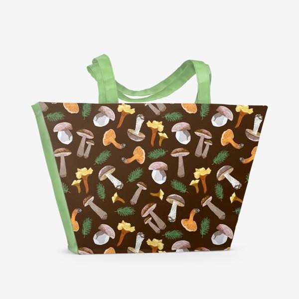 Пляжная сумка «Fall mushrooms»