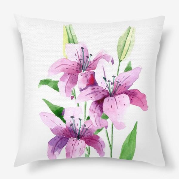 Подушка «Лилии»