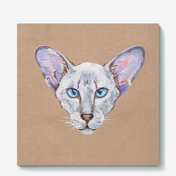 Холст «Кот фиолетовоУх»
