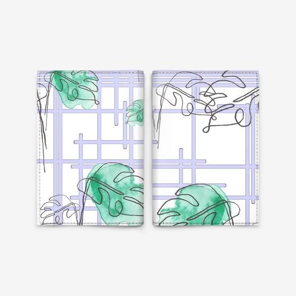 Обложка для паспорта «Монстера»