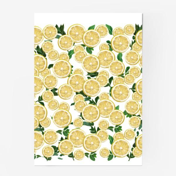 Постер «Лимончики среди листьев мяты »
