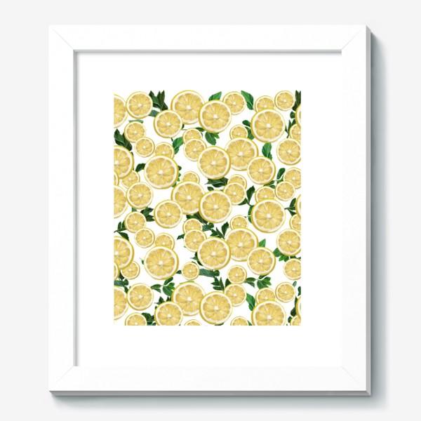 Картина «Лимончики среди листьев мяты »