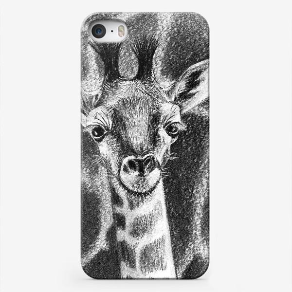 Чехол iPhone «Жираф черно-белый»