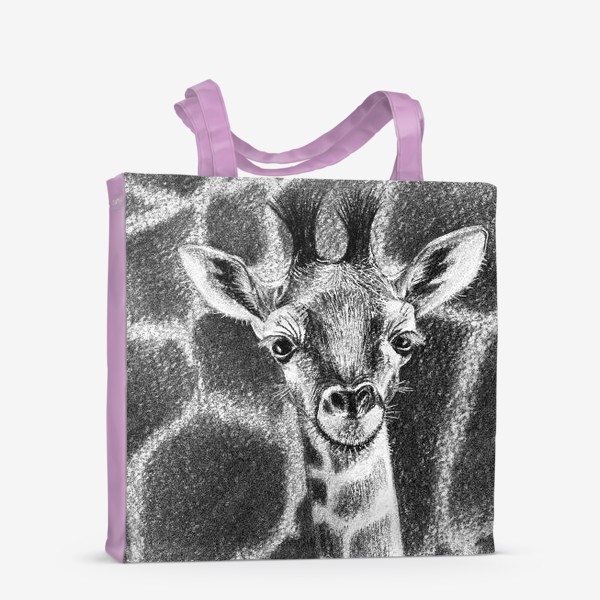 Сумка-шоппер «Жираф черно-белый»