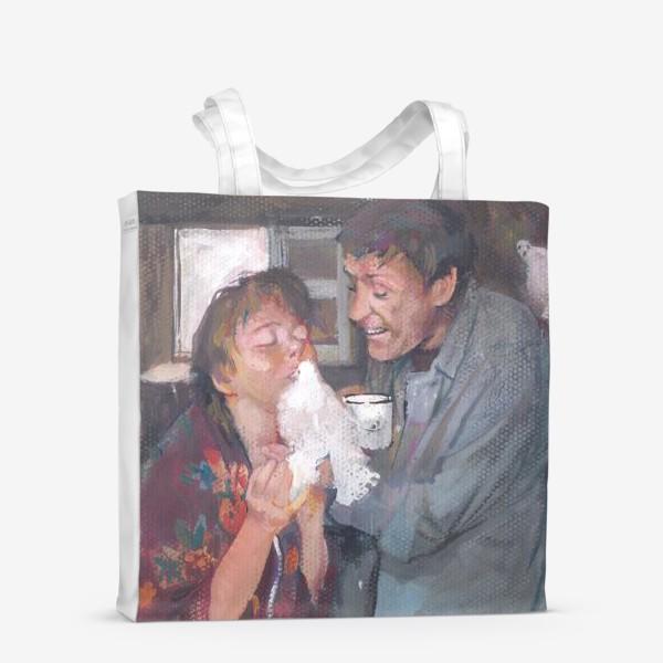 Сумка-шоппер «Любовь и голуби.»