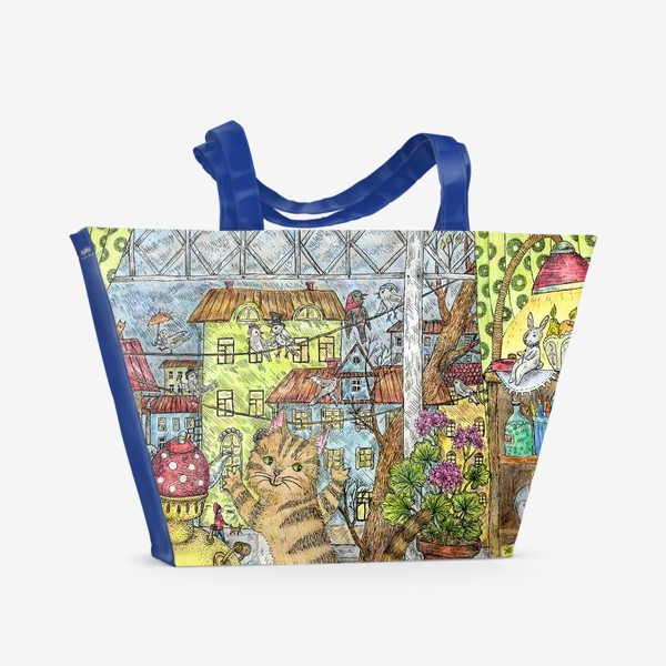 Пляжная сумка «Осенним днём»
