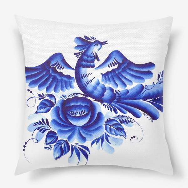 Подушка «Синяя птица»