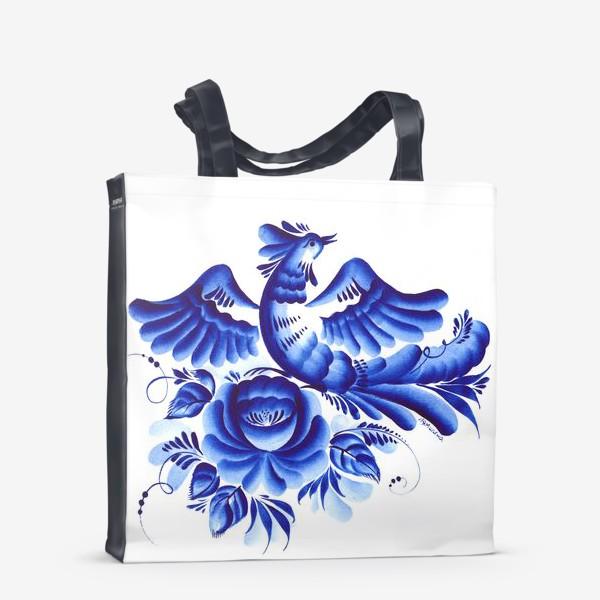 Сумка-шоппер «Синяя птица»