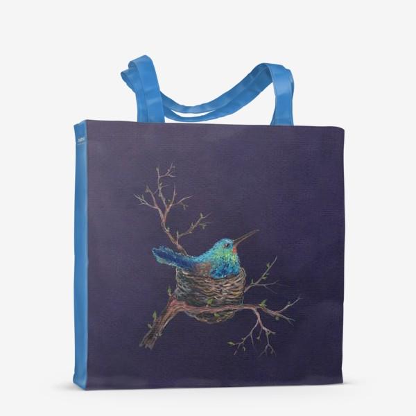 Сумка-шоппер «крошка колибри »
