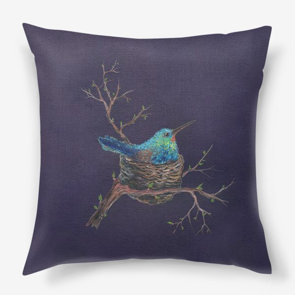 Подушка «крошка колибри »
