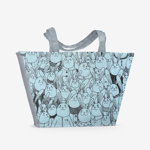 Пляжная сумка «Зайцы, много зайцев!»
