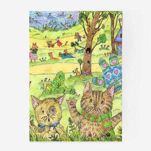 Постер «Котята потеряли перчатки»