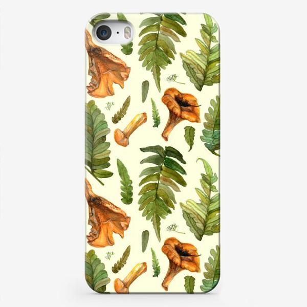 Чехол iPhone «Лисички и папоротник»