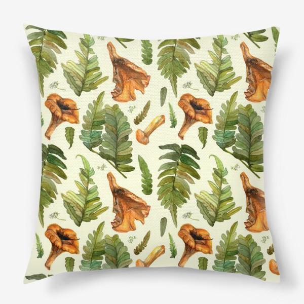 Подушка «Лисички и папоротник»