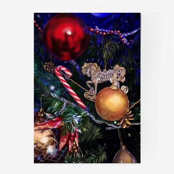 Постер «Новогодние игрушки»