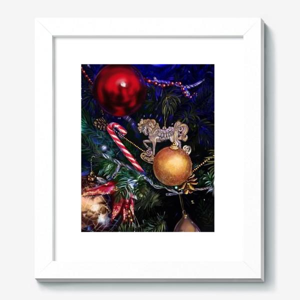 Картина «Новогодние игрушки»