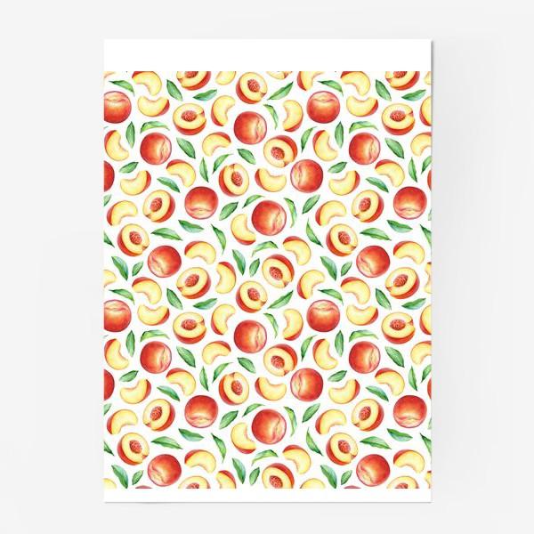Постер «Персики и листья»
