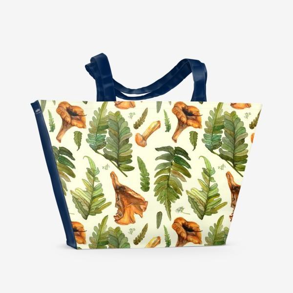 Пляжная сумка «Лисички и папоротник»