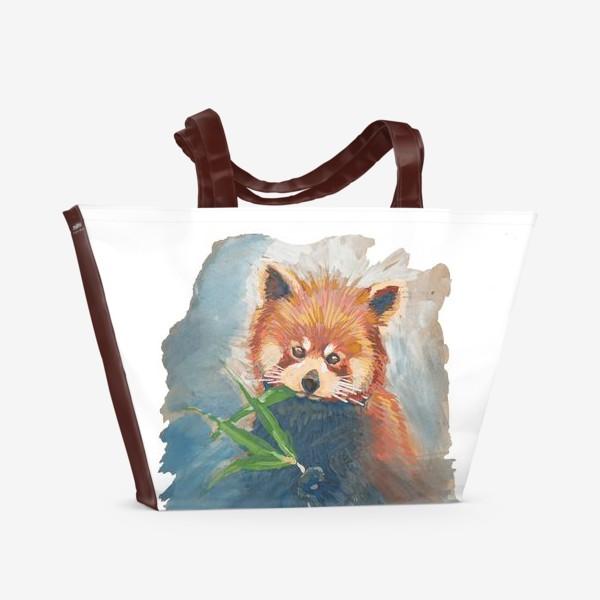 Пляжная сумка «Красная панда»